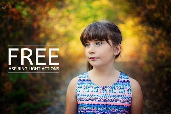Free photoshop actions - Floating Lights Photography