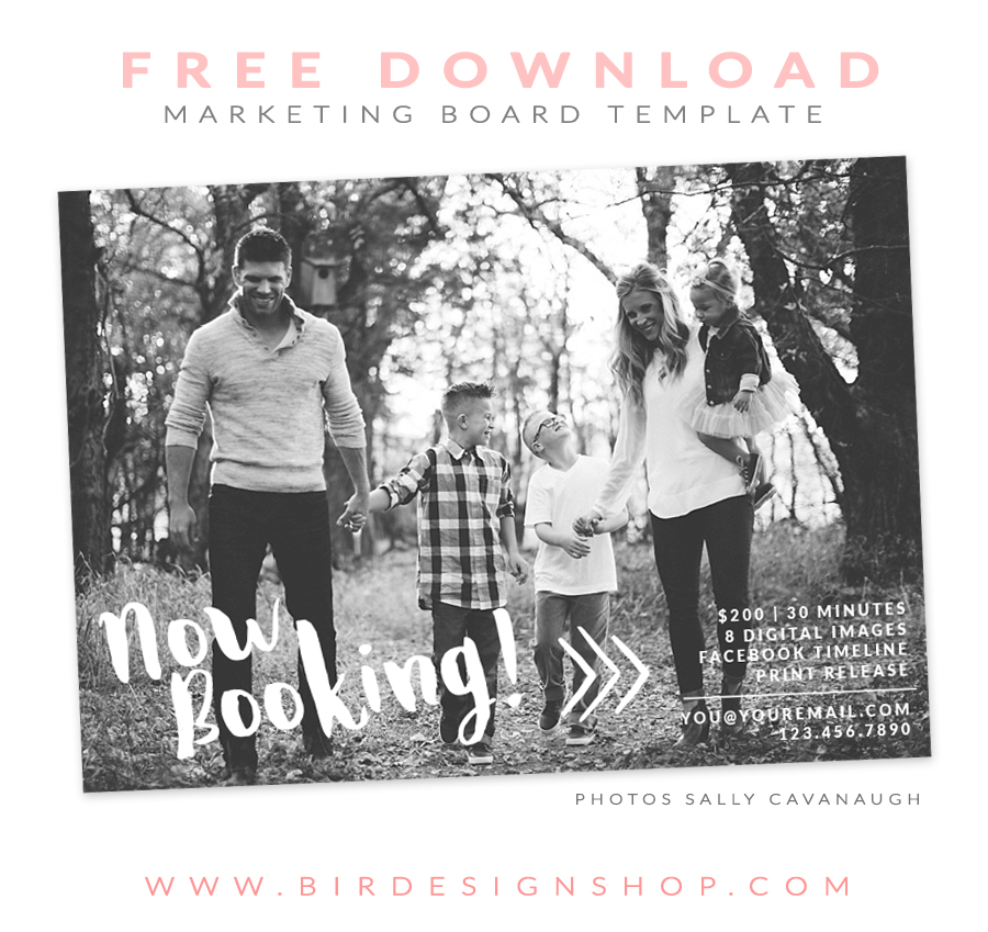 free marketing template photographers